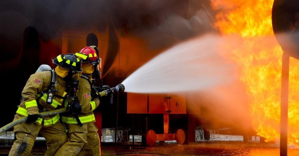 Firefighters fighting fire 2